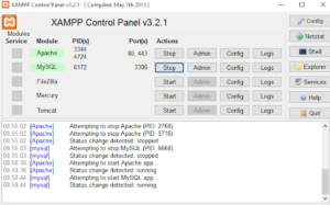 Download Xampp control panel version 3.2.1 Free